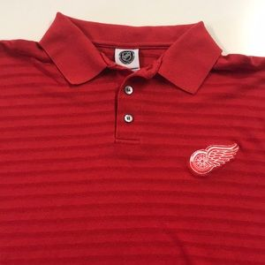 DETROIT RED WINGS Mens Medium Golf Polo Shirt